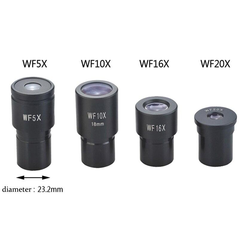 Oculares do microscópio WF5X WF10X WF15X WF16X WF20X WF25X Parte Lente Lente Grande Angular Monocular Microscópio Biológico Ocular