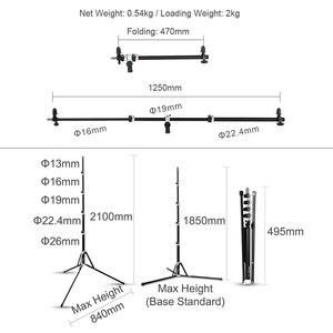 Image 4 - Soporte de soporte Reflector 2 en 1, brazo de soporte con trípode plegable portátil de 210cm soporte de luz para Flash de estudio Reflector Speedlide