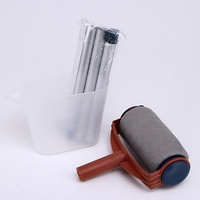 Multi function Paint Roller Brush Set Home Decoration Room Mural Paint Brush Sturdy Practical Handle Paint Brush Tool Accessorie