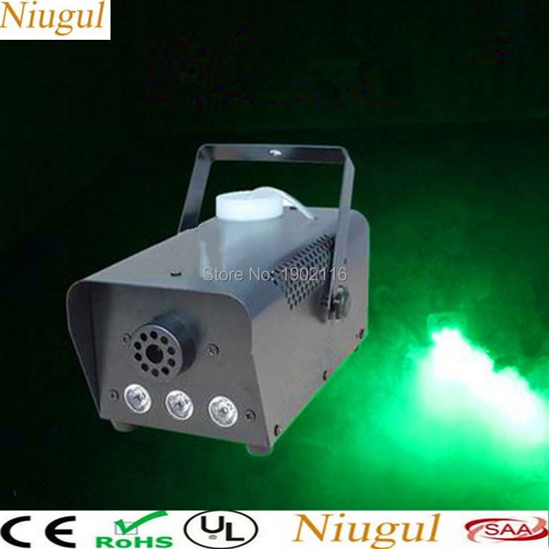 Remote Wrieless Mini LED 500W smoke Machine/Green color 500w led somke Machine/led fog machine/fogger for disco party wedding