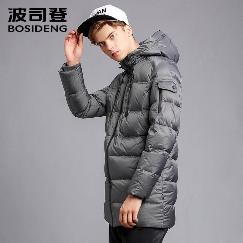 BOSIDENG 2017 new winter duck down jacket long down parka hood down coat winter thick warm outwear high quality B1601151 цена