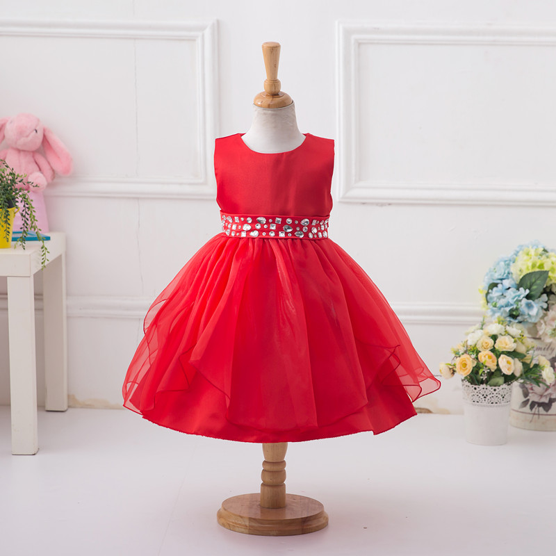 Summer new foreign trade brand children 's clothing girl 12 - year - old princess performance party dress