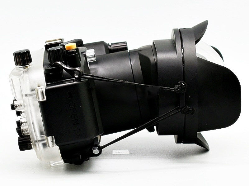 40M Underwater Camera Housing Case for Sony NEX-6 18-55 + fisheye wide angle lens camera 67mm 0 7x fisheye wide angle lens dome port 67mm round for underwater waterproof diving housing case bag