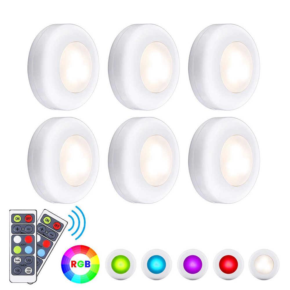 RGBW 16 цветов Светодиодная подсветка под шкаф диммер и Функция синхронизации Светодиодные шайбы ночные лампы для шкафа закрытый шкаф