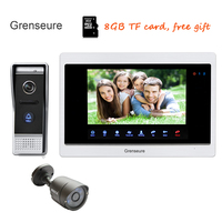 Free Shipping 720P AHD 10 Screen Video Door Phone Intercom Unlock Record System Door Camera Motion