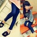 Retil 2-7 лет Дети узкие джинсы брюки, девушки джинсы детская одежда детская одежда бесплатная доставка