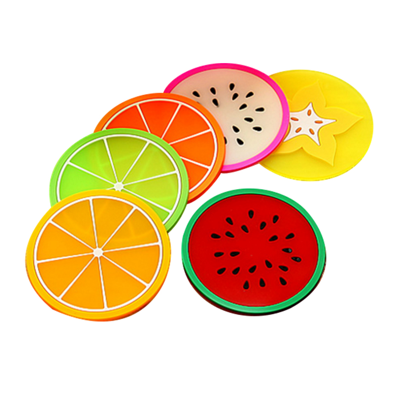 Fruit Shape Silicone Cup Coaster Anti-slip Mat Insulation Pad Creative Coaster Cup Mat