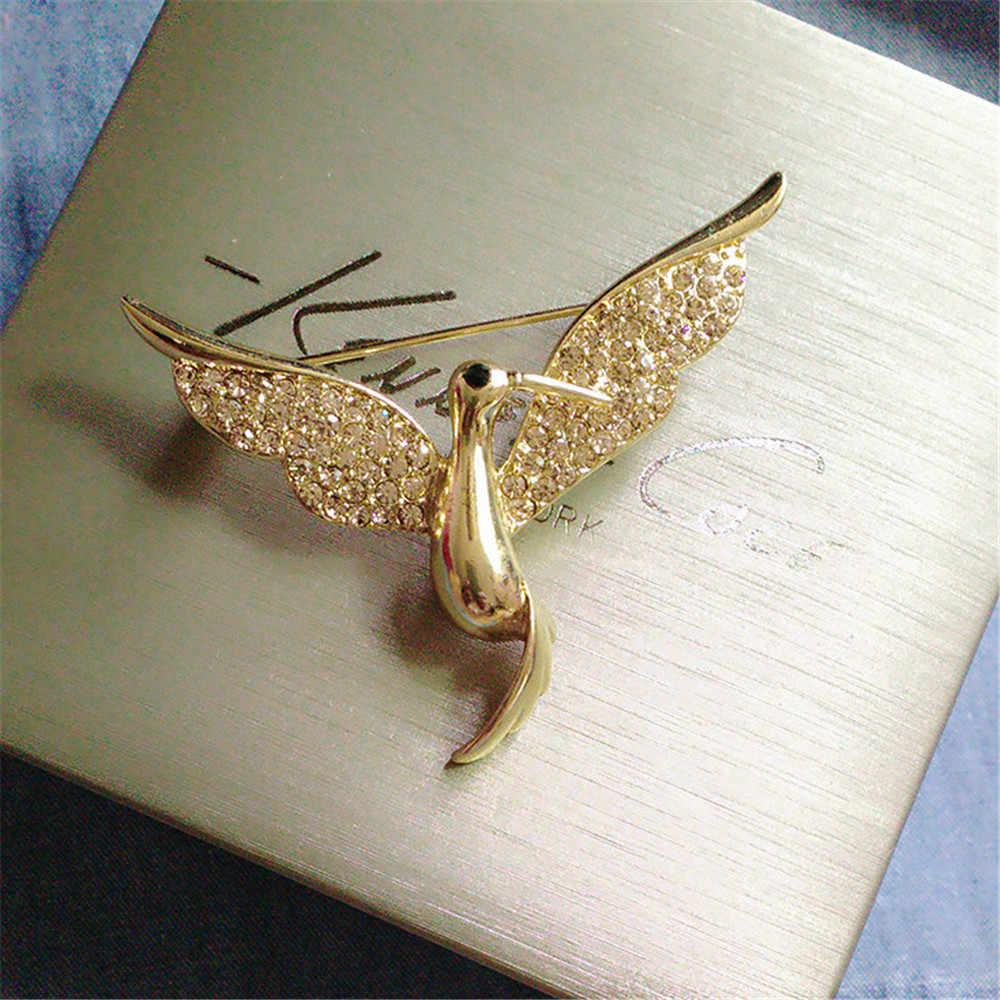 2019 Eropa Amerika Serikat Merek Fashion Mewah Batu Semi Mulia Hummingbird Wanita Bros Aksesoris Wanita