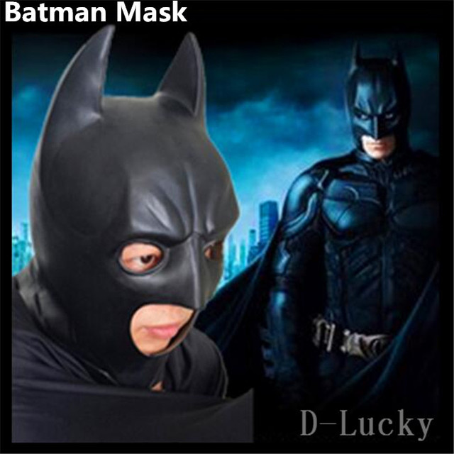 Top Quality 100% Natural Latex Scary Dark Knight Rises Batman mask Costume Halloween Deluxe Party & Top Quality 100% Natural Latex Scary Dark Knight Rises Batman mask ...