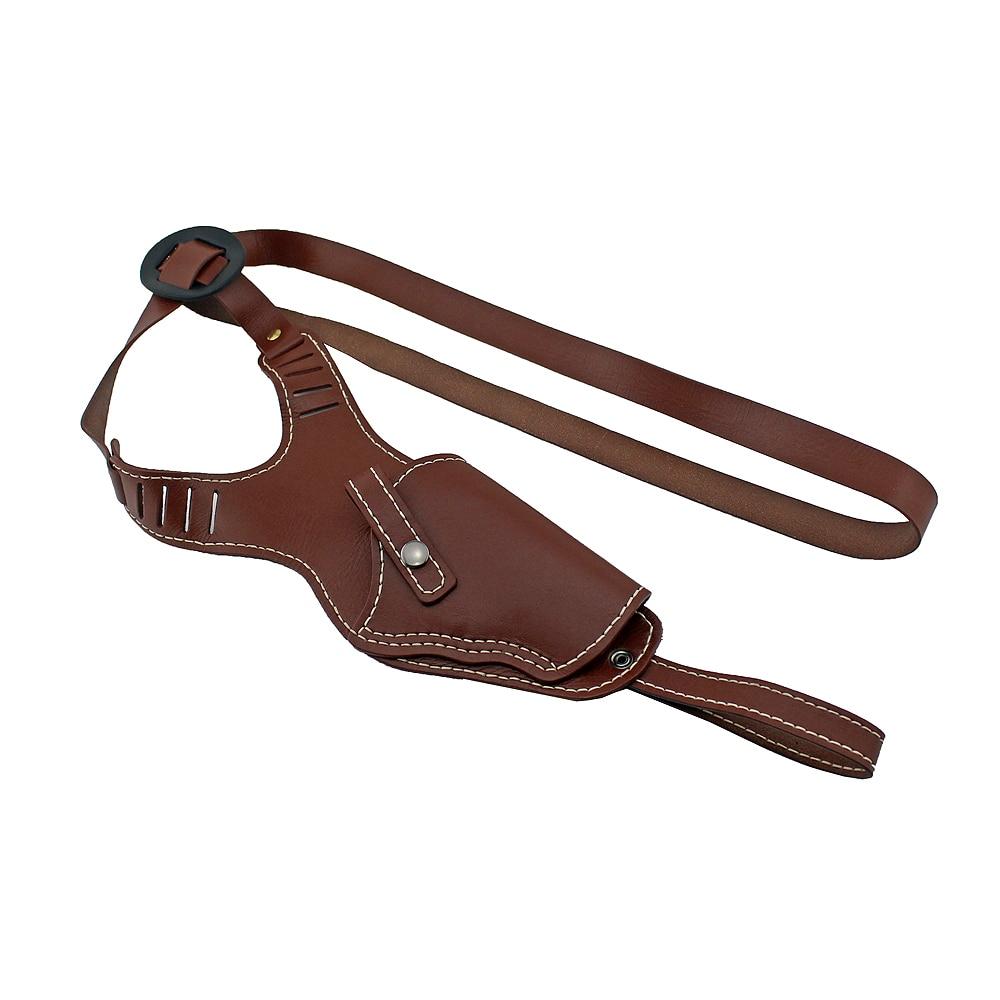 Vertical Shoulder Holster Brown Leather Cross Harness Gun