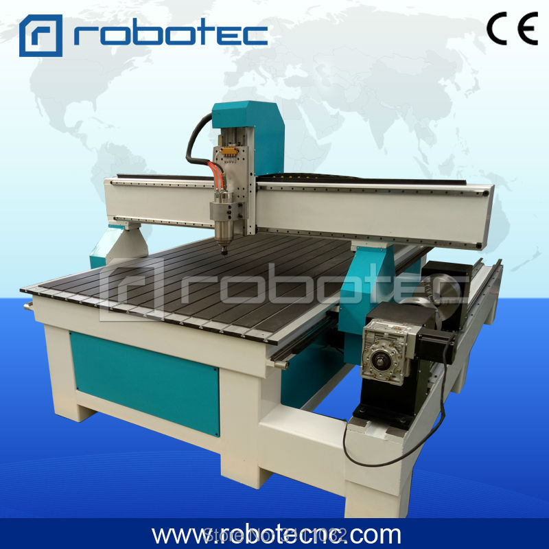 Rotary Cnc Router 4 Axis Wood Working Machine With Servo Motor