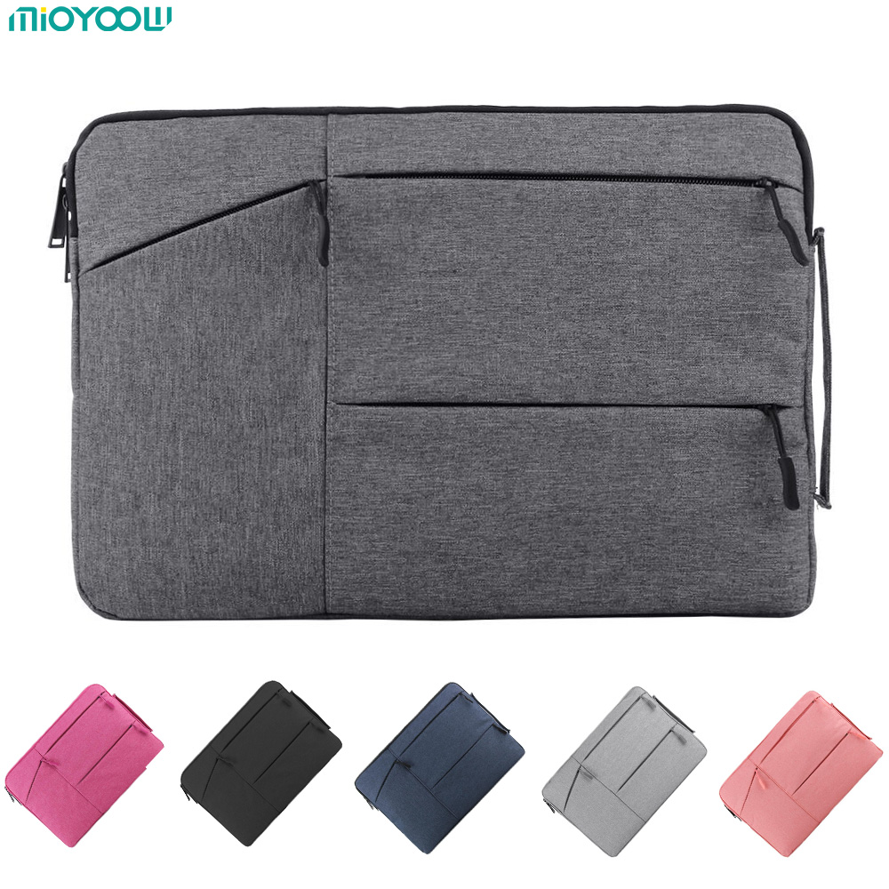 Laptop Bag For Macbook Air Pro Retina 11 12 13 14 15 15.6 inch Laptop Sleeve Case PC Tablet Case Cover for Xiaomi Air HP Dell laptop sleeve genuine leather black gray laptop sleeve 11 12 13 14 15 notebook cover for xiaomi air 3 lenovo yoga dell laptops