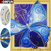HOMFUN 5D Special Shape Diamond Embroidery Animal Painting Cross Stitch 3D Butterfly With Diamonds gift Gift 40x50cm