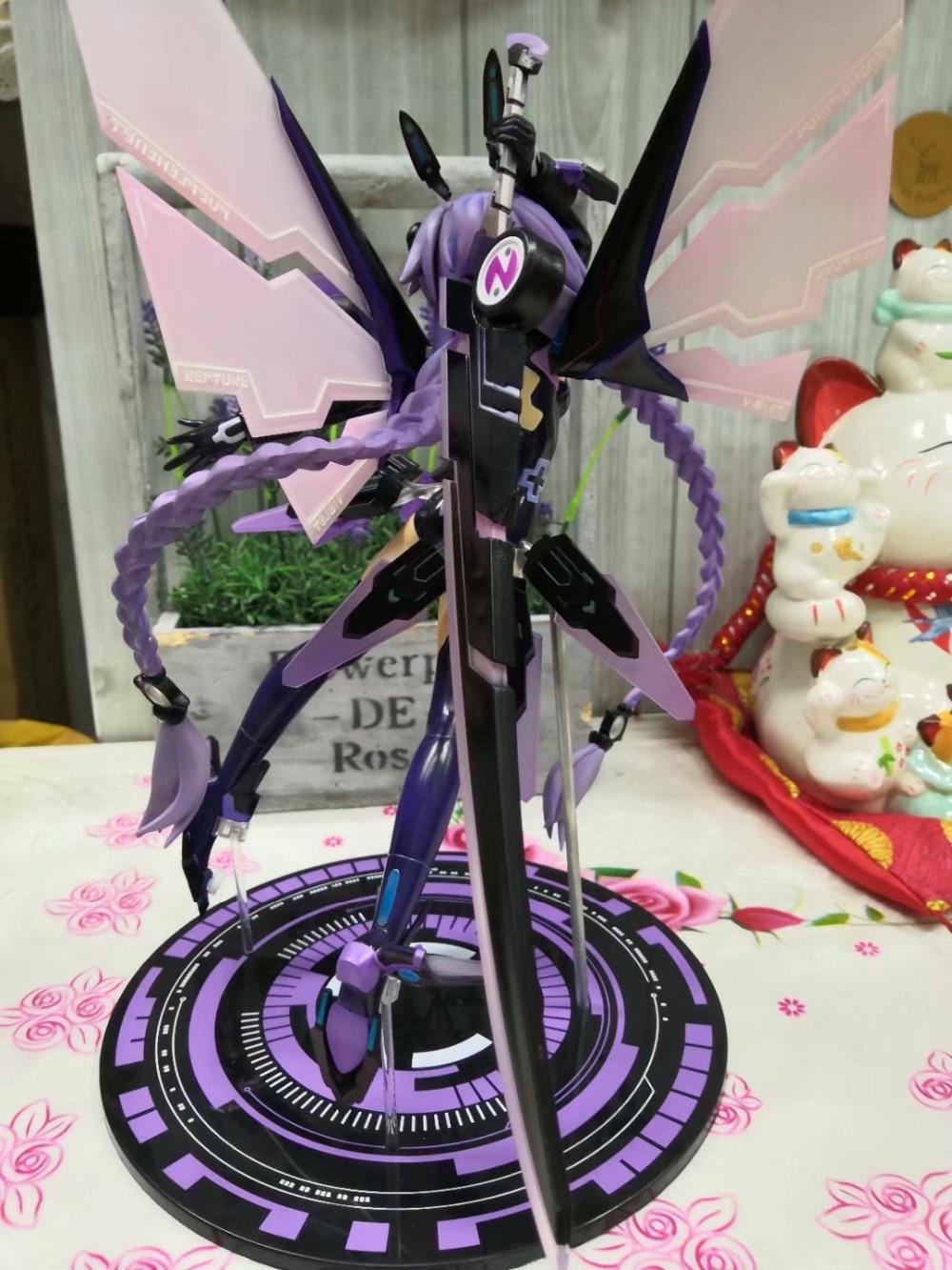 30CM Hyperdimension Neptunia Purple Heart Neptune Doll Cartoon Anime Action Figure PVC toys Collection figures 1