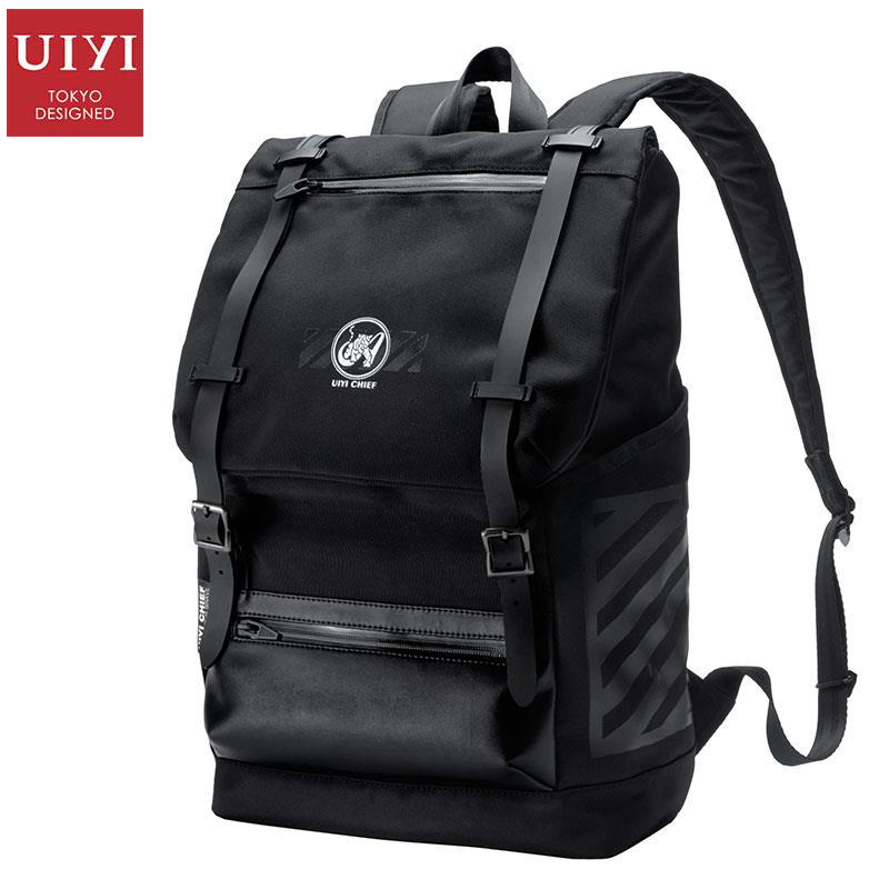 uiyi backpack men polyester microfiber pu leather patchwork backpacks for teenagers school rucksack school bags travel 160014 UIYI Brand Design Women Men Vintage Black Polyester Microfiber Laptop School Male Korea Backpack Rucksack For Teenagers 160176