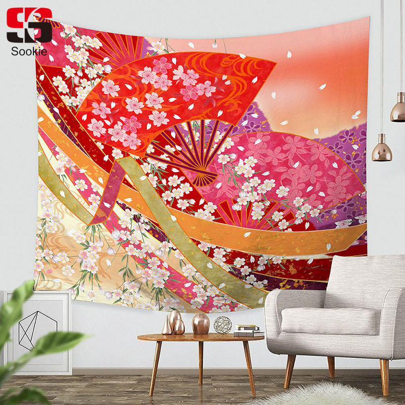 Sookie Rectangle Tapestry Japan Style Pattern Wall Hanging