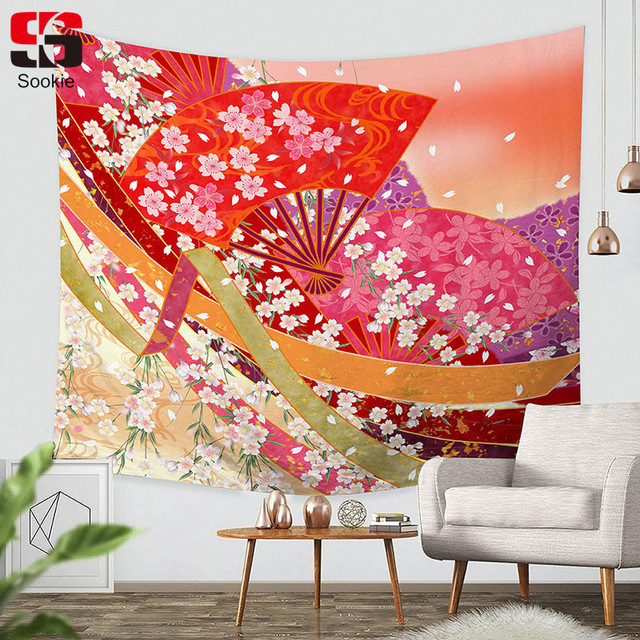 Captivating Sookie Rectangle Tapestry Japan Style Pattern Wall Hanging Free Shipping Ethnic  Home Decor Tapiz 150*