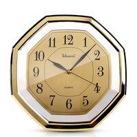 Gold Home Watch Wall Clock Modern Design vintage Creative Clocks Vinyl Rock n Roll Relogio De Parede Pow Patrol European 50Q059