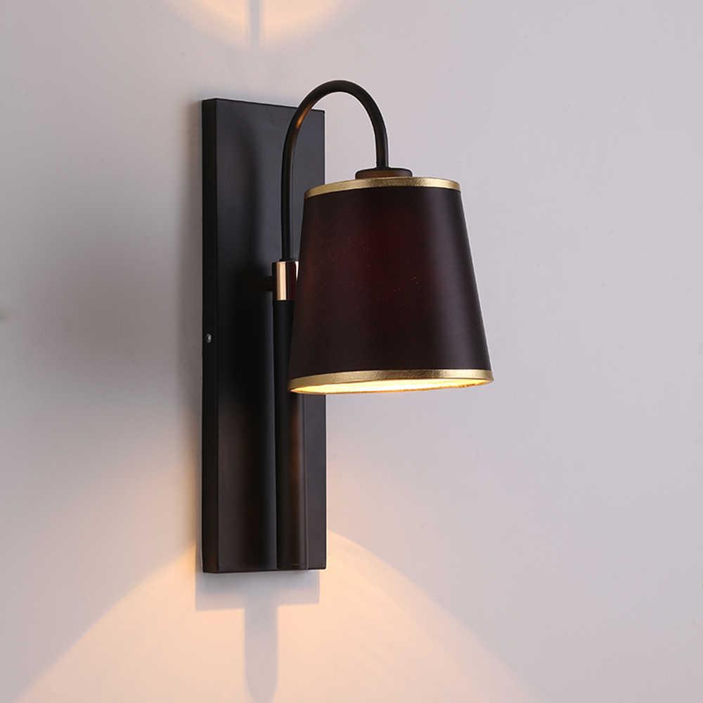 Европейский стиль настенные светильники Современные Бра Освещение AC110V 220 В гостиной спальня лампа