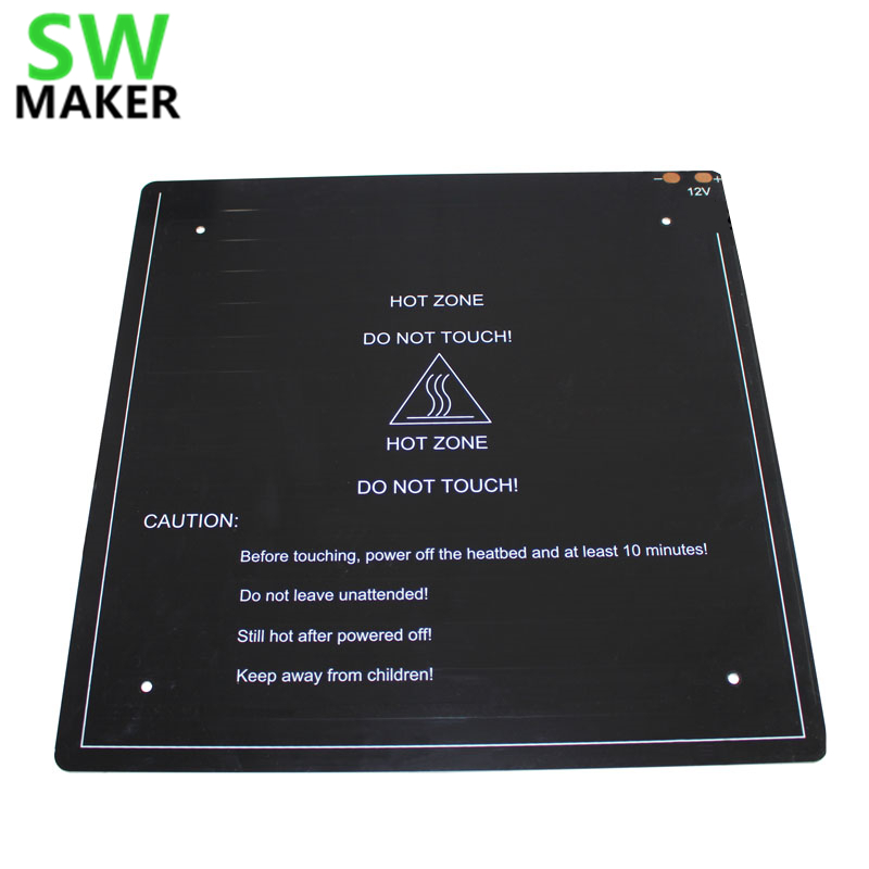 Mk3 Aluminum Substrate Hot Bed 310*310*3mm 12v 3d Printers & 3d Scanners