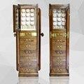 Dobadoura do relógio de madeira sólida gabinete armário De armazenamento de Jóias display de 12 Automático watch winder caixa de jóia/armazenamento relógio recolher