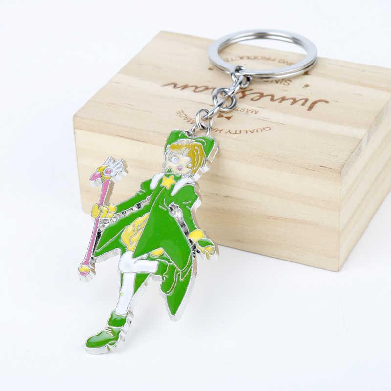Аниме ювелирные изделия карты Captor Брелок «Сакура» герои мультфильмов игрушка Кулон брелоки Cardcaptor Sakura брелоки