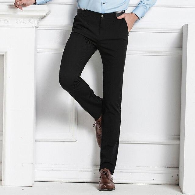 2017 European Men S Business Casual Trousers Fashion Solid Color Large Size Suit Pants