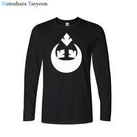 Men S Brand 100 Cotton High Quality Long Sleeves Round Collar T Shirt Leisure Fashion U