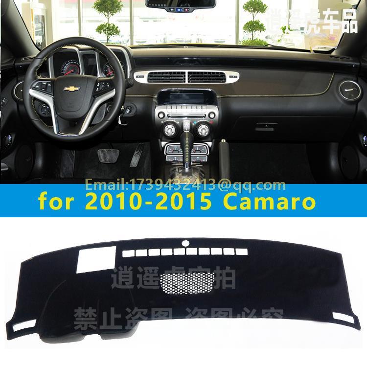 Dashmats auto-styling accessori cruscotto copertura per Chevrolet chevy camaro ss rs zl1 z28 2010 2011 2012 2013 2014 2015