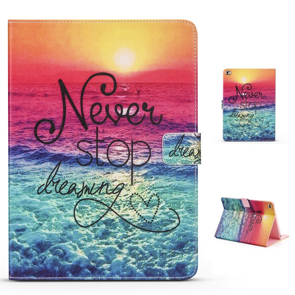 Early Evening Beach Pattern PU and PC Support Protective Cover Case for iPad Mini 1234 Air 1 2 iPad 234 iPad Pro 10.5 Pro 9.7