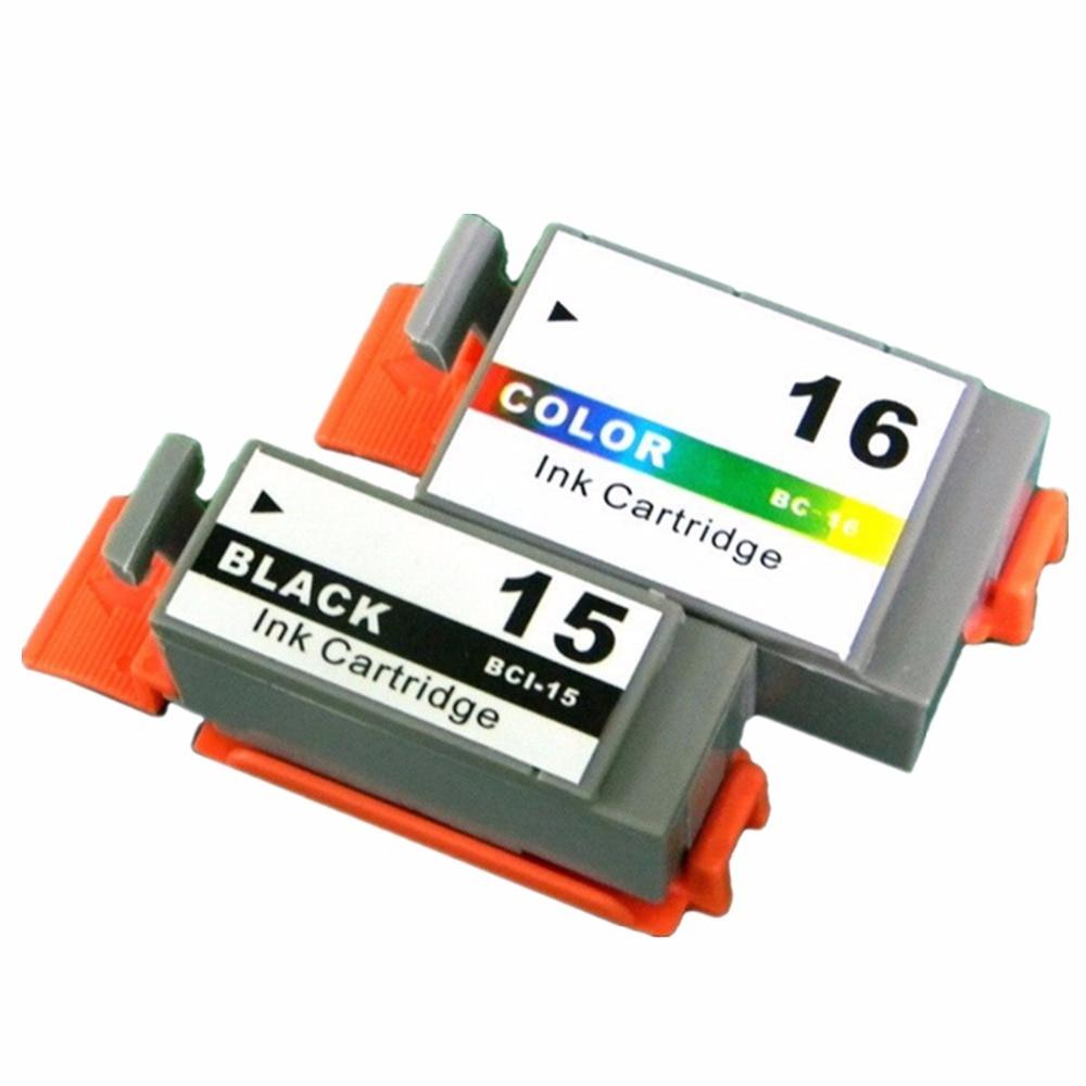 BCI-15BK BCI-16C BCI-15 BCI-16 BCI 15 16 Ink Cartridges For Canon Pixma i70 i80 SELPHY DS700 DS810 iP90 mini220 Inkjet Printer