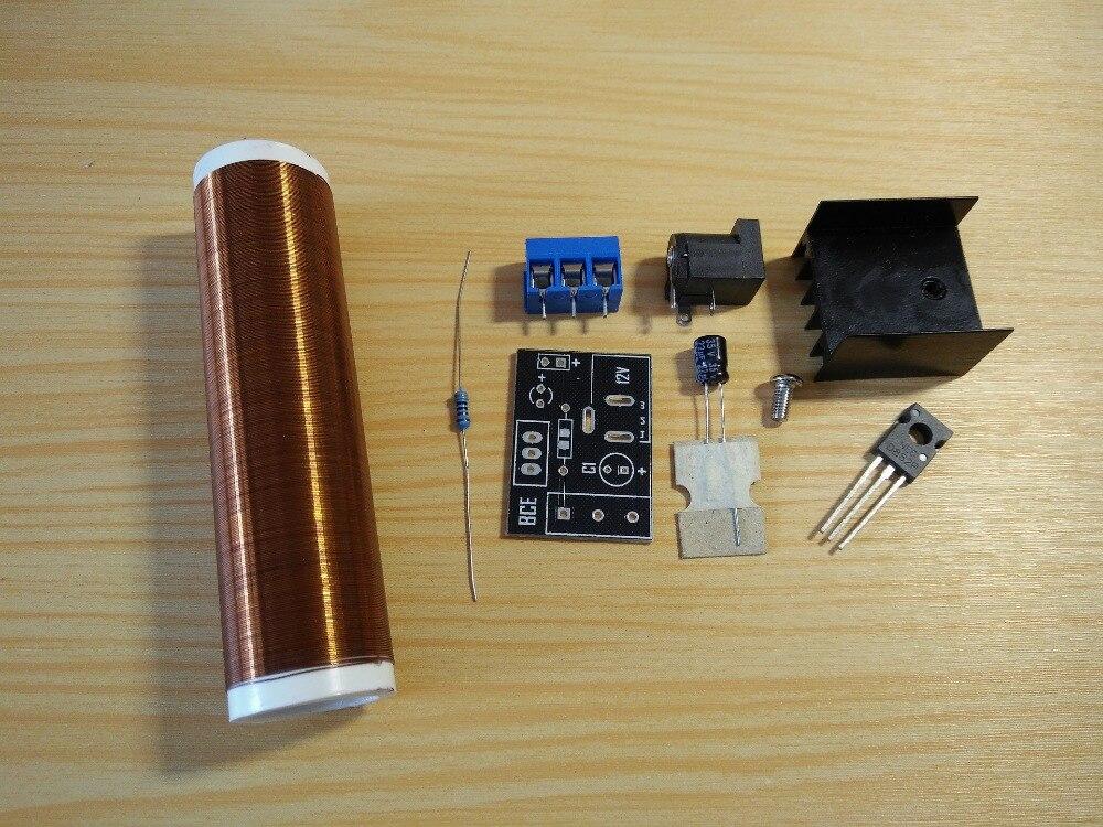 Mini tube Tesla coil kit DIY micro mini tesla coil with a beautiful head diy kits for kids diy toys