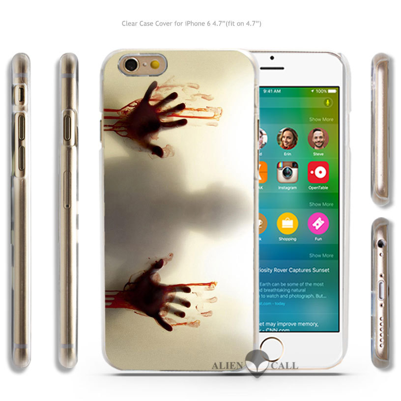 TV Show The Walking Dead Hard Transparent Clear Case Cover Coque Shell for iPhone 4 4s 5 5s 5c 6 6 Plus