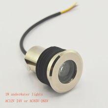 IP68 1 Вт СИД Подземный свет Подводный свет Нержавеющей стали водонепроницаемый корпус AC12V 24 В AC85V-265V