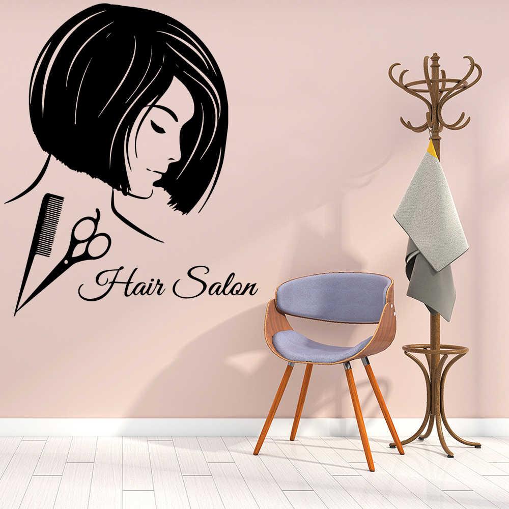 Cartoon Wall Decal Hair Salon Vinyl Stickers For Beauty Salon Rooms Wall Art Decal Wall Sticker Wallpaper Mural Aliexpress