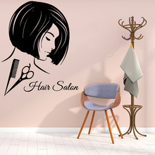 Cartoon hair salon House Decor Self Adhesive Vinyl Waterproof For Hairstyle Rooms Wall Art Decal Commercial Sticker