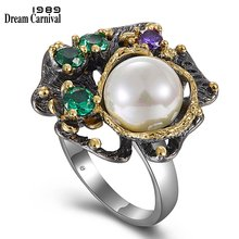 Женские винтажные кольца dreamcarnival 1989 в цветочном стиле