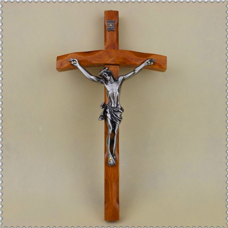 Cross Crucifix Relics Figurines Jesu Lamb Of God Art Sculpture Teak Art&Craft Catholic Christian Activities R817