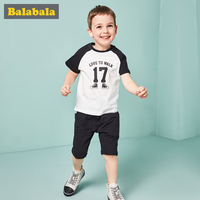 Balabala 2pcs child clothing suits toddler boy clothing summer boy Pullover set clothes Casual sportswear clothing sets for boys