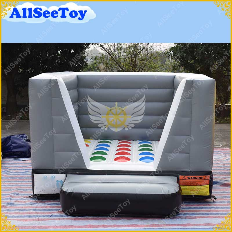 Inflatable Twister Game ALL PVC Bouncy Castle Funny Play Mat for Party Free Shipping Bouncy Castle