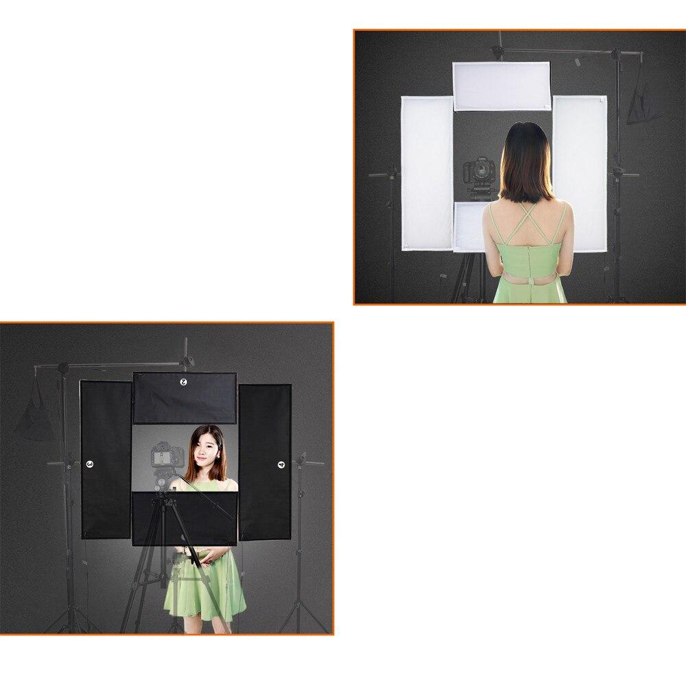 Spash 4 w 1 lampa studyjna led panel świetlny led do kamery wideo Vlog Youtube Shoot możliwość przyciemniania 5500K CRI95 bezprzewodowy pilot zdalnego sterowania