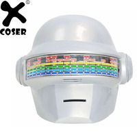 XCOSER шлем Daft Punk Хэллоуин маски продажа бренда голос Управление версия ПВХ белый полный головы Косплэй шлем с светодио дный огни