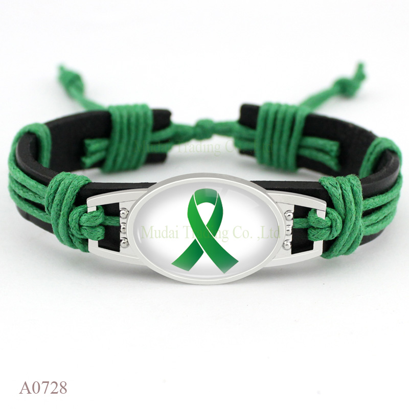 Autism Awareness Strong Hope Fighter Warrior Ribbon Breast Cure Cancer Bracelets for Women Men Jewelry