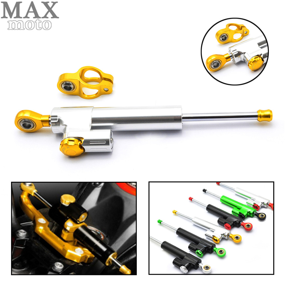 ФОТО Universal Motorcycle CNC Damper Steering Stabilizer Damper Linear Reversed Safety Control for honda shadow mt07 fz6 z750