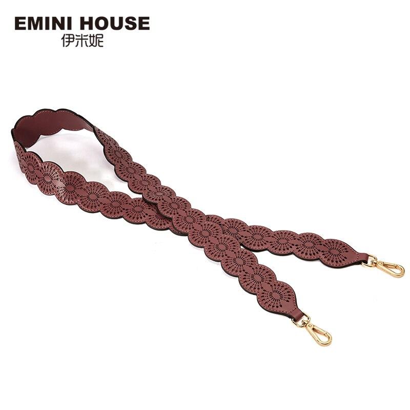 EMINI HOUSE Lace Shoulder Strap Split Leather Women Bag Strap Wide Belt Bag Accessory 111.5cm*4cm