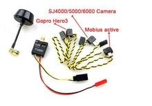5.8G 600mW 32ch Mini Wireless Audio Video AV Transmitter & Mushroom Antenna for Gopro Hero 3 Mobius Active 808 SJ4000