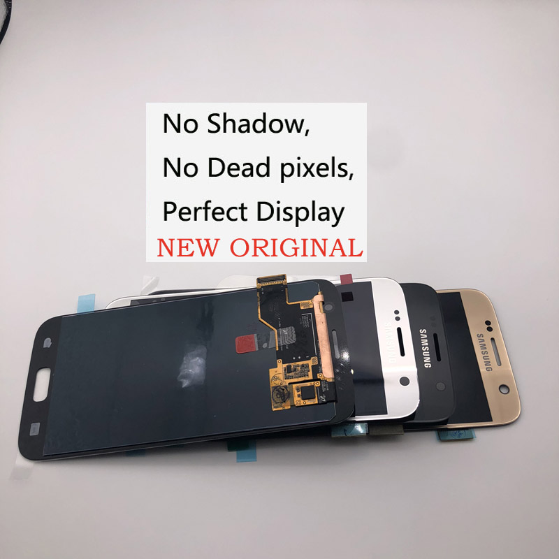 Without Buan-Shadow Original Display for SAMSUNG Galaxy S7 G930 G930F LCD  Display WITH FRAME Touch Screen Digitizer Assembly