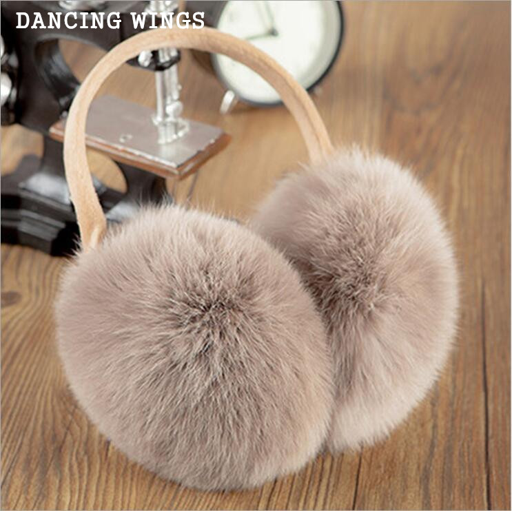 Russian Winter 100% Natural Rex Rabbit Fur Earmuff