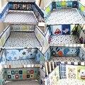 100% algodón Más Estilos 3D bordado animales dibujos de flores ropa de cama de bebé 4 Unidades cama alrededor de Parachoques de protección de Seguridad