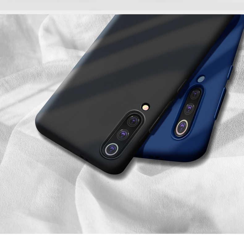 De lujo de líquido de silicona caso para Samsung Galaxy A10 A20 A30 A40 A50 A70 M10 M20 M30 A505 A405 celular del silicio cubierta trasera suave del teléfono